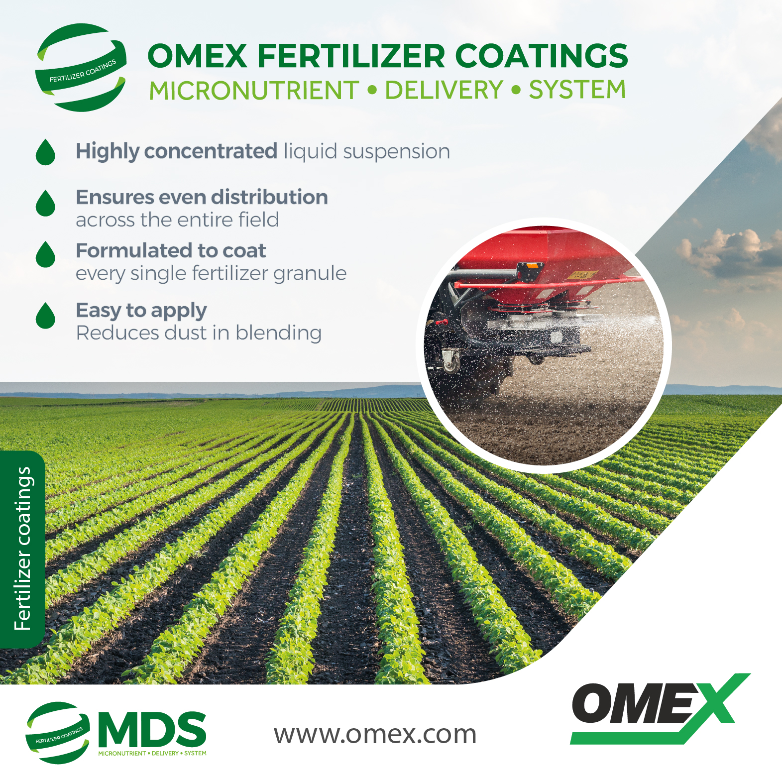 Help maximise crop yields with OMEX MDS