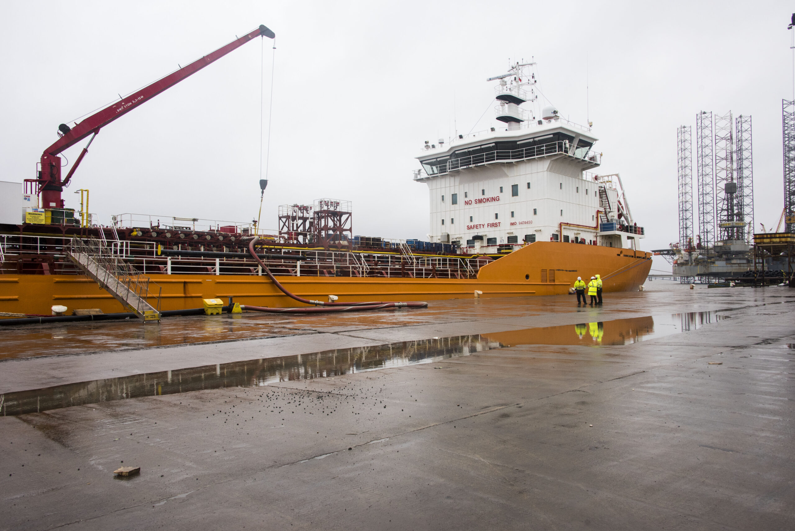 The Port of Dundee receives its largest ever vessel of Liquid Nitrogen